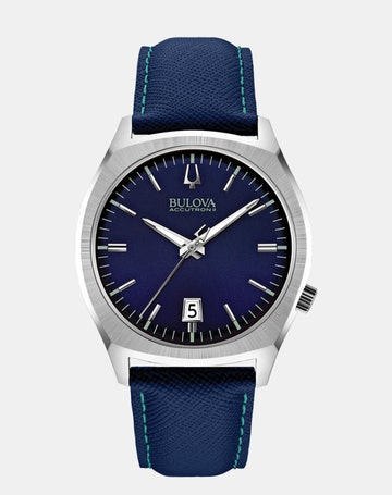 Blue dial, blue leather 96B212