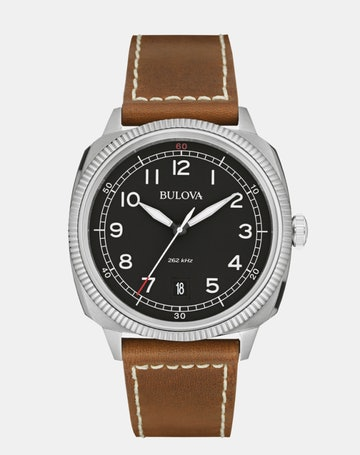 Black dial on Brown leather 96B230