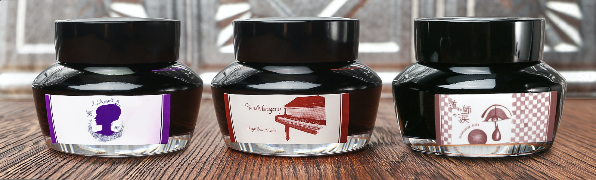 Bungbox Red & Purple Ink Set (3-Pack)
