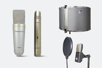 Studio 2, CAD AS32Flex (Acoustishield) and CAD VP1 Pop filter (+ $100)