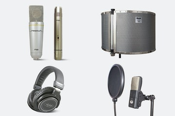 Studio 2, MH320, CAD AS32Flex (Acoustishield), and CAD VP1 Pop filter (+ $145)