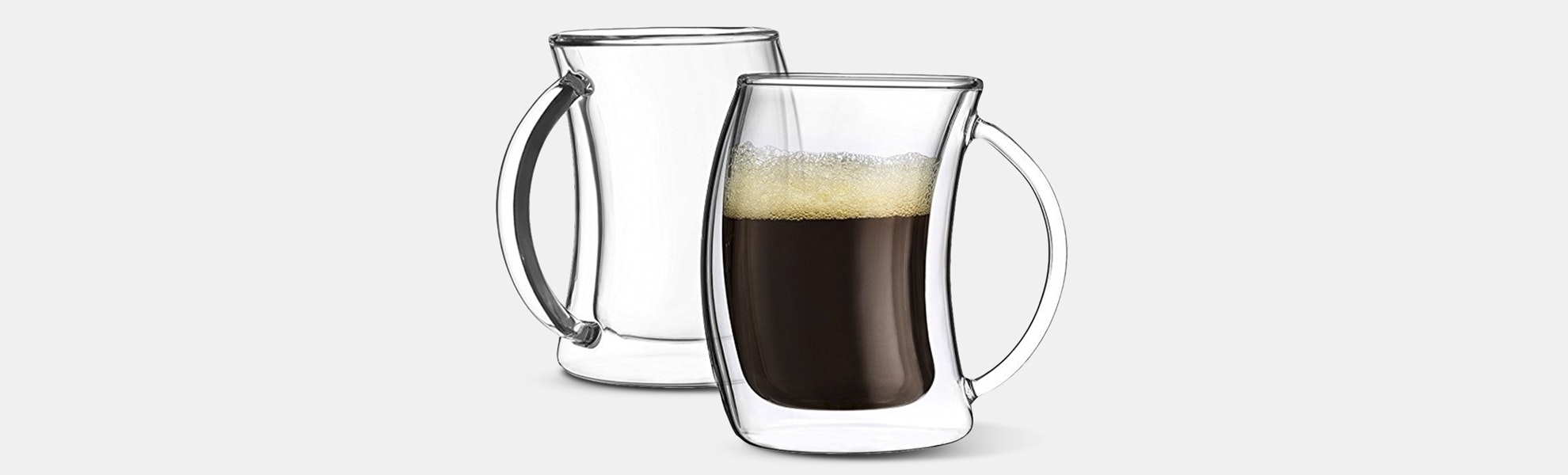 JoyJolt Caleo Double-Wall Mug Sets