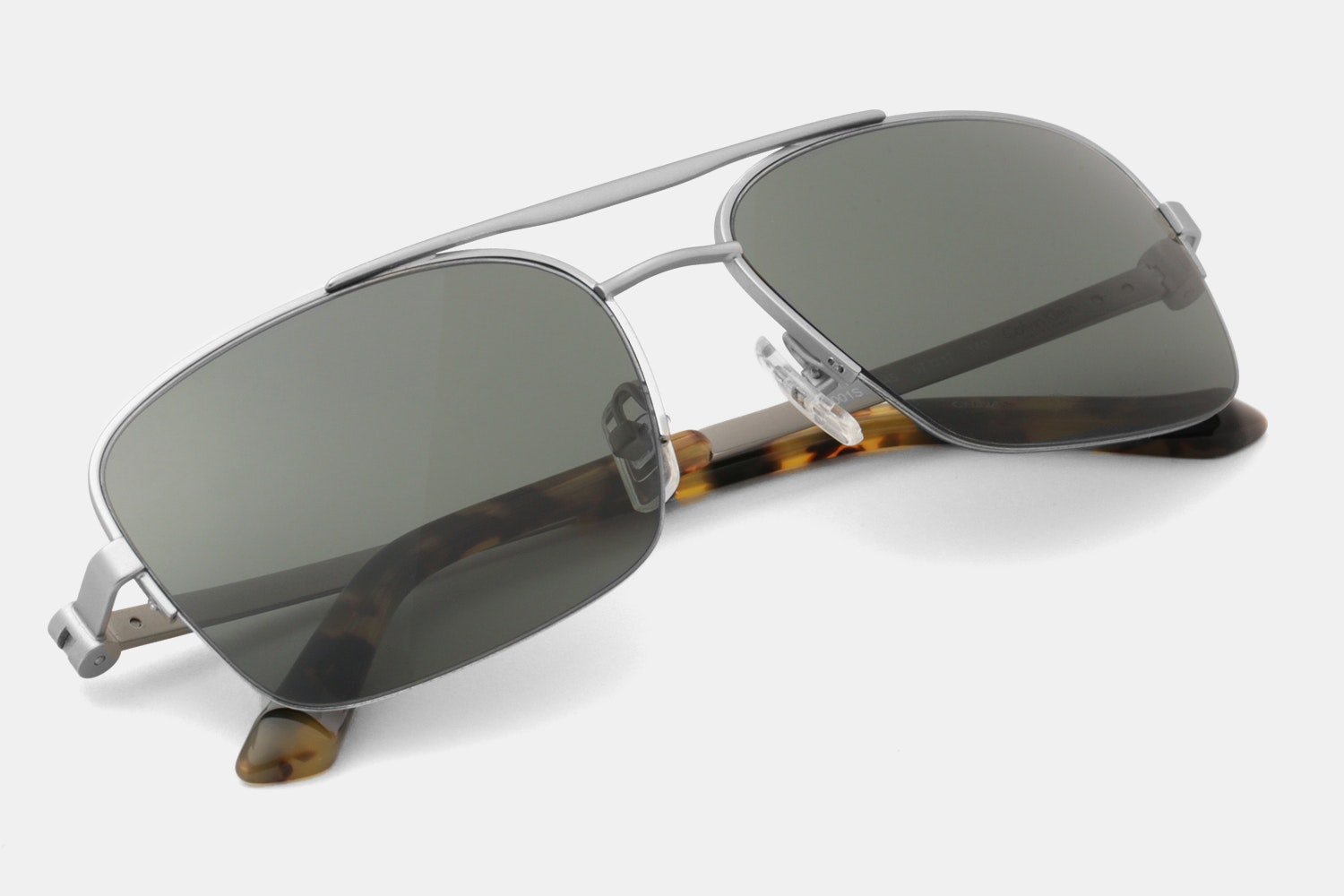 Silver frame with Green Lenses