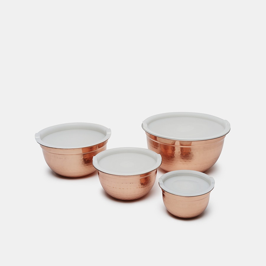 Cambridge Silversmith Mixing Bowls (4-Pieces w/Lid)