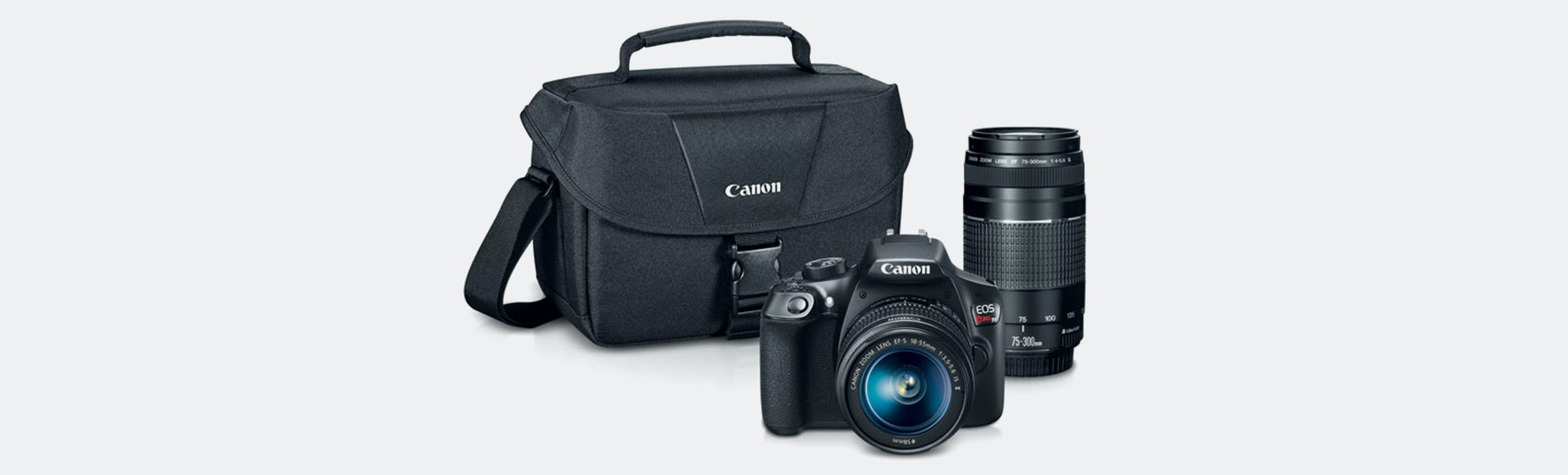 Canon EOS T6 EF-S 18–55mm & EF 75–300mm Bundle