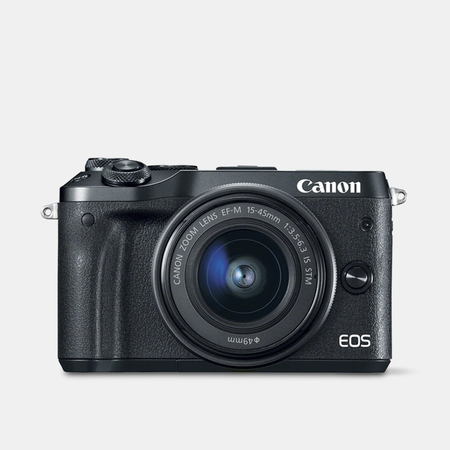 Canon M6 Mirrorless Digital Camera w/ 15–45mm Lens