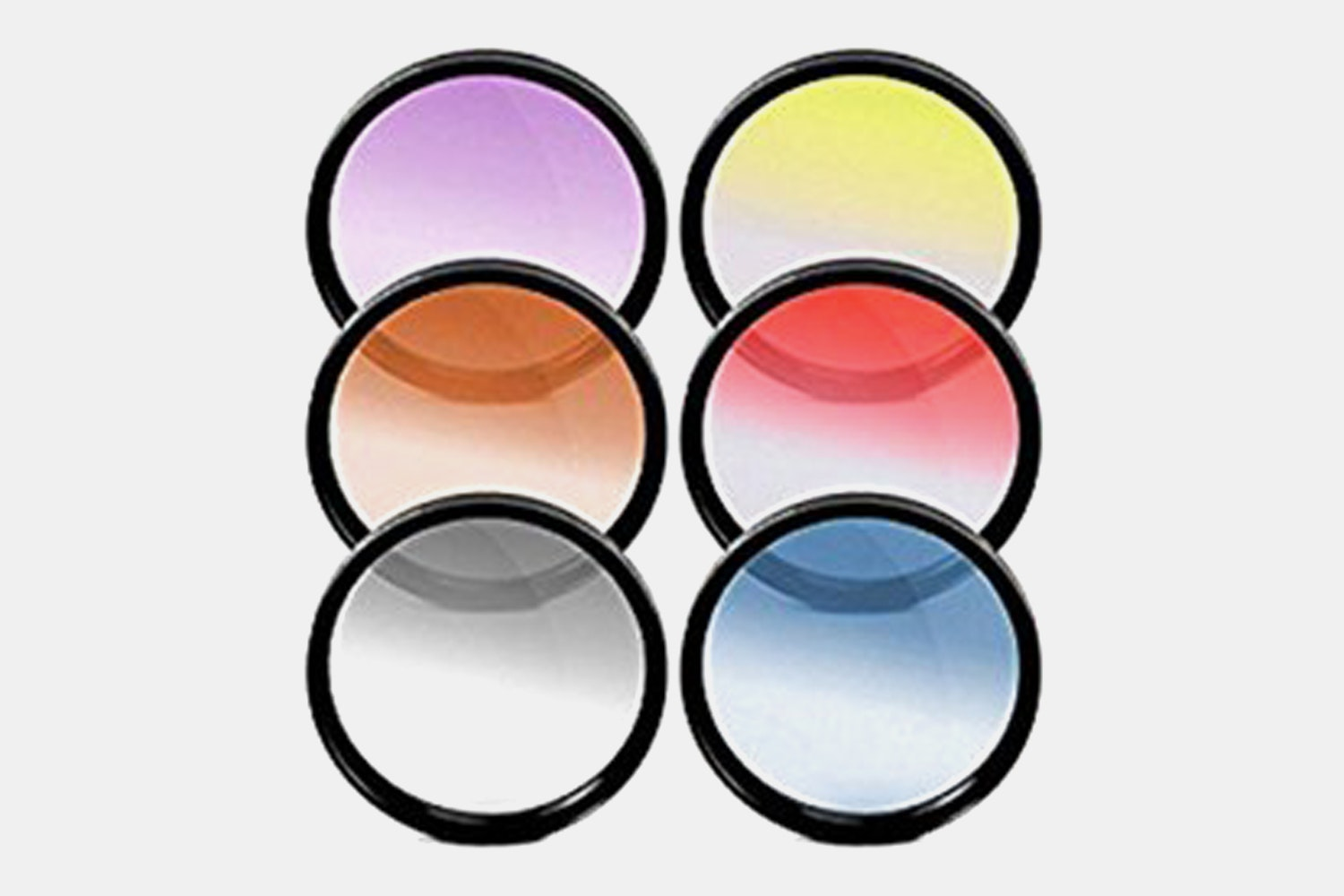 Generic 58mm Graduated Color Multicoated Six Piece Filter Set with Fold-Up Filter Case
