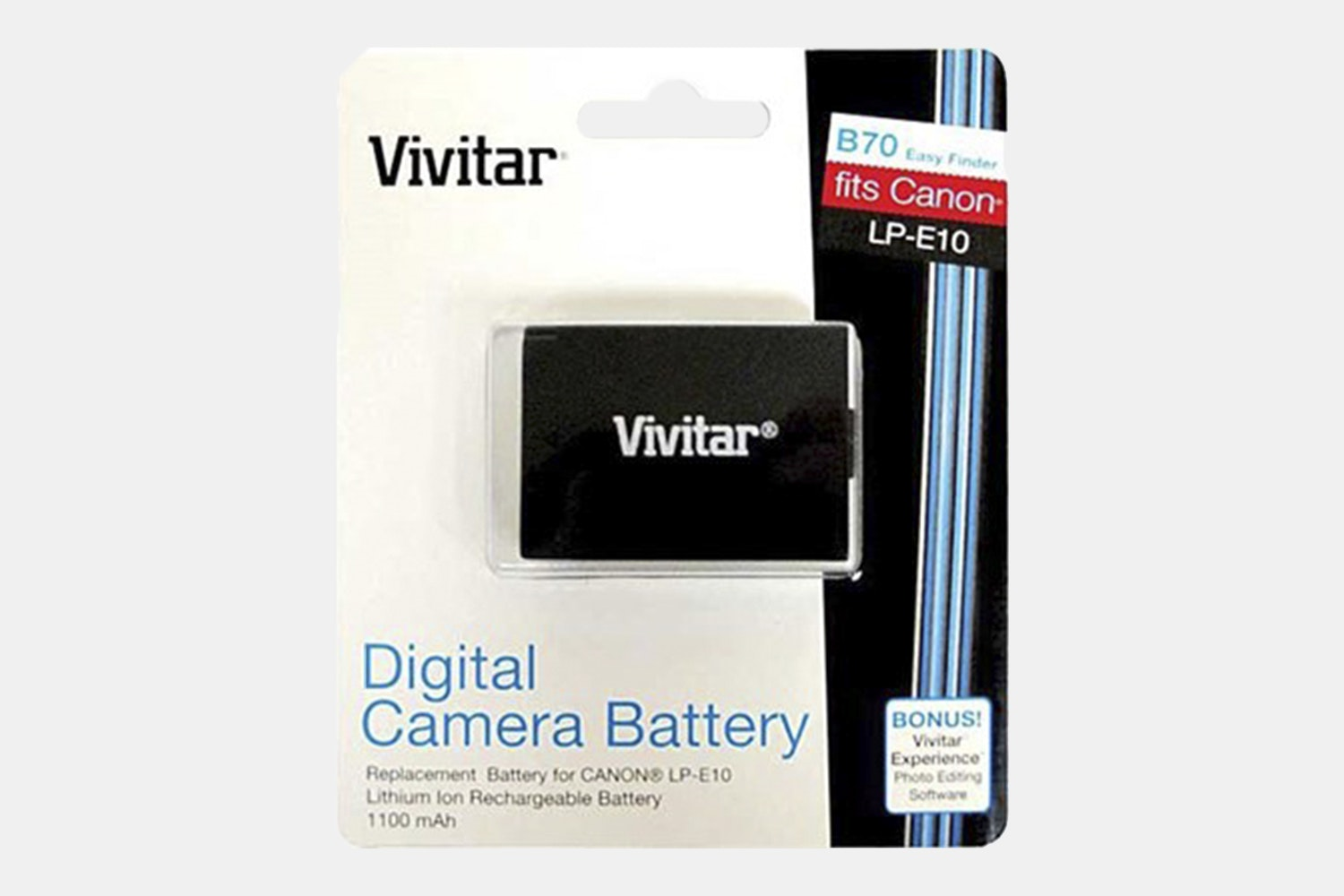 Vivitar Replacement / Extra Battery Pack LP-E10 For EOS Rebel T3, T5, T6