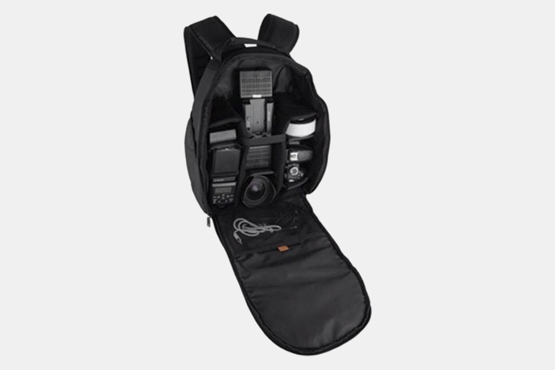 Vivitar Large Photo/Video Backpack for DSLR Camera, Lens and Accessories (Black) VIVDC15