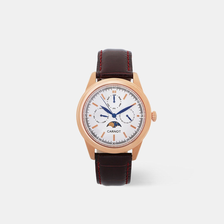 Carnot Riviera Moonphase Quartz Watch