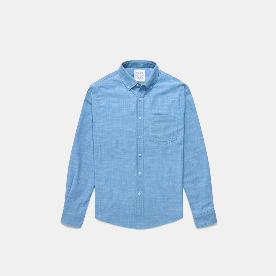 Casavva Crosshatch Long-Sleeve Woven Shirt