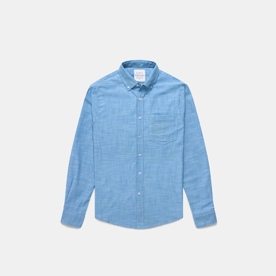 Casavva Crosshatch Long-Sleeve Woven Shirt