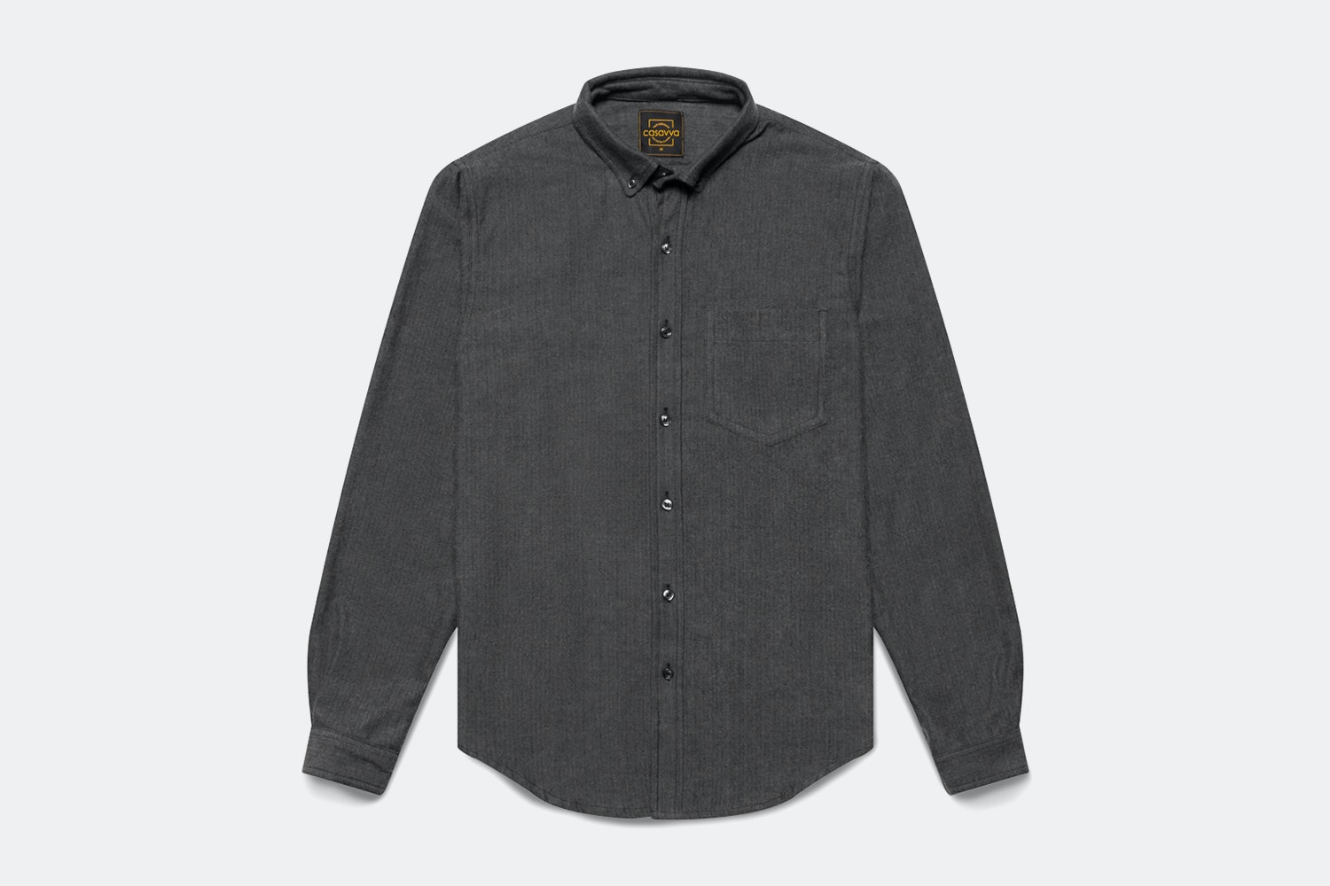 Charcoal Herringbone