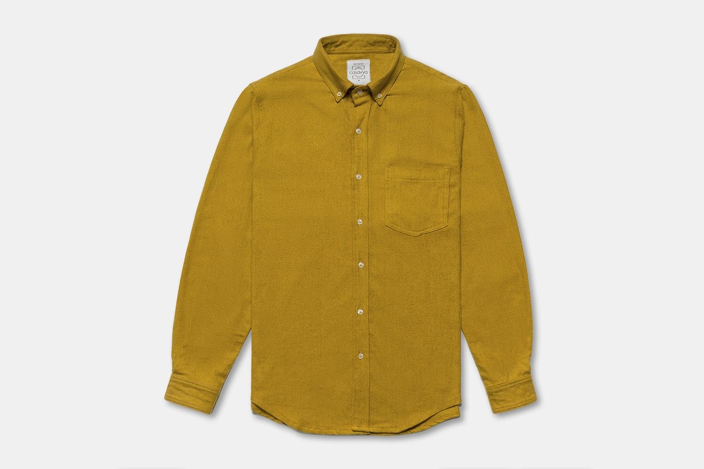 Mustard Herringbone