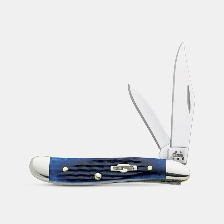 Case Cutlery Jigged Blue Bone