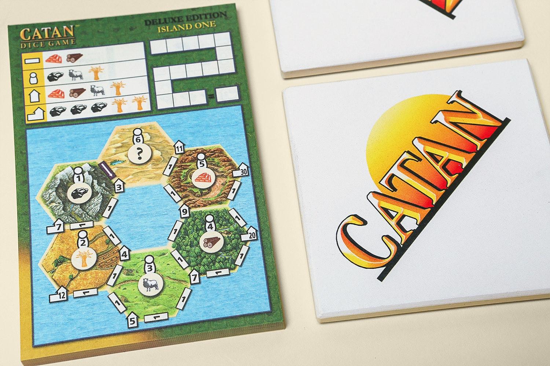 Catan Dice Game & Catan Coaster Bundle