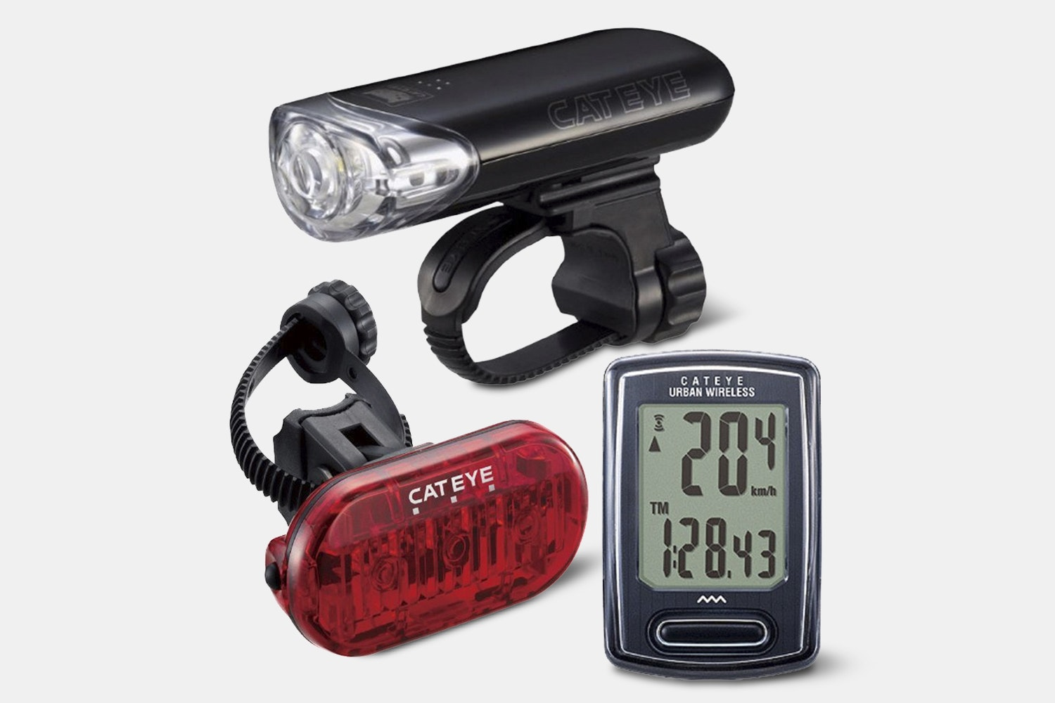 CatEye EL140, LD135 & VT240W Combo Bike Light Kit