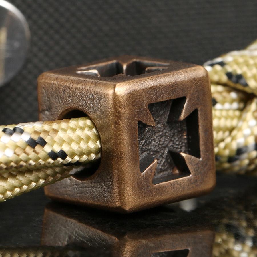 C.D. Peterson Lanyard Beads: Bronze Maltese Cross