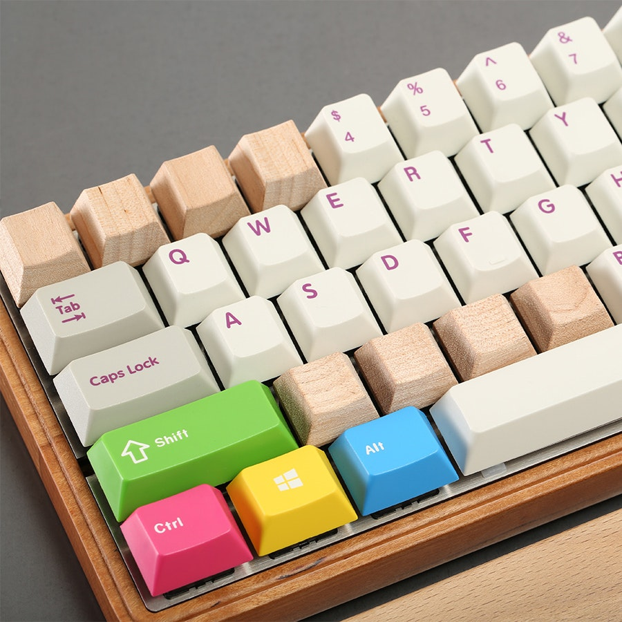 Cherry Wood Novelty Keycaps (4-pack)