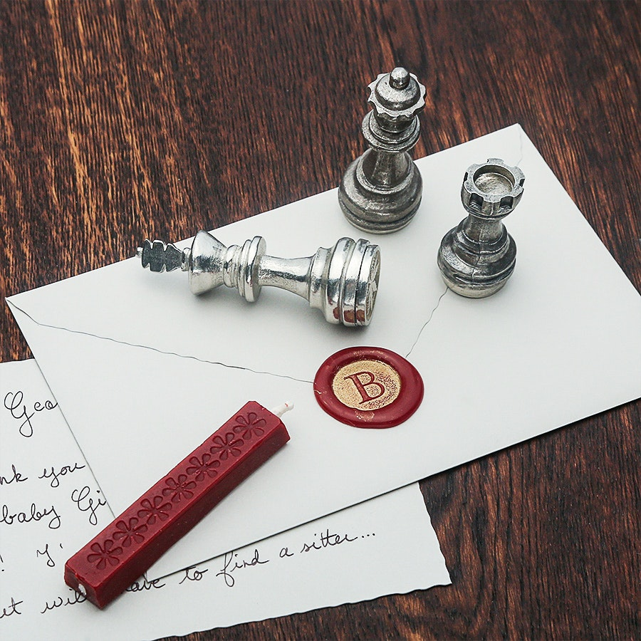 Chess Piece Wax Seal Set