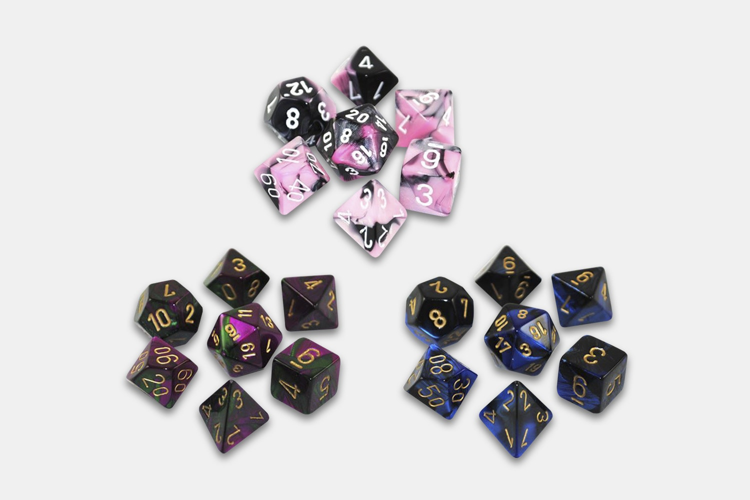 Chessex Gemini 7-Die Dice Sets (3-Pack)