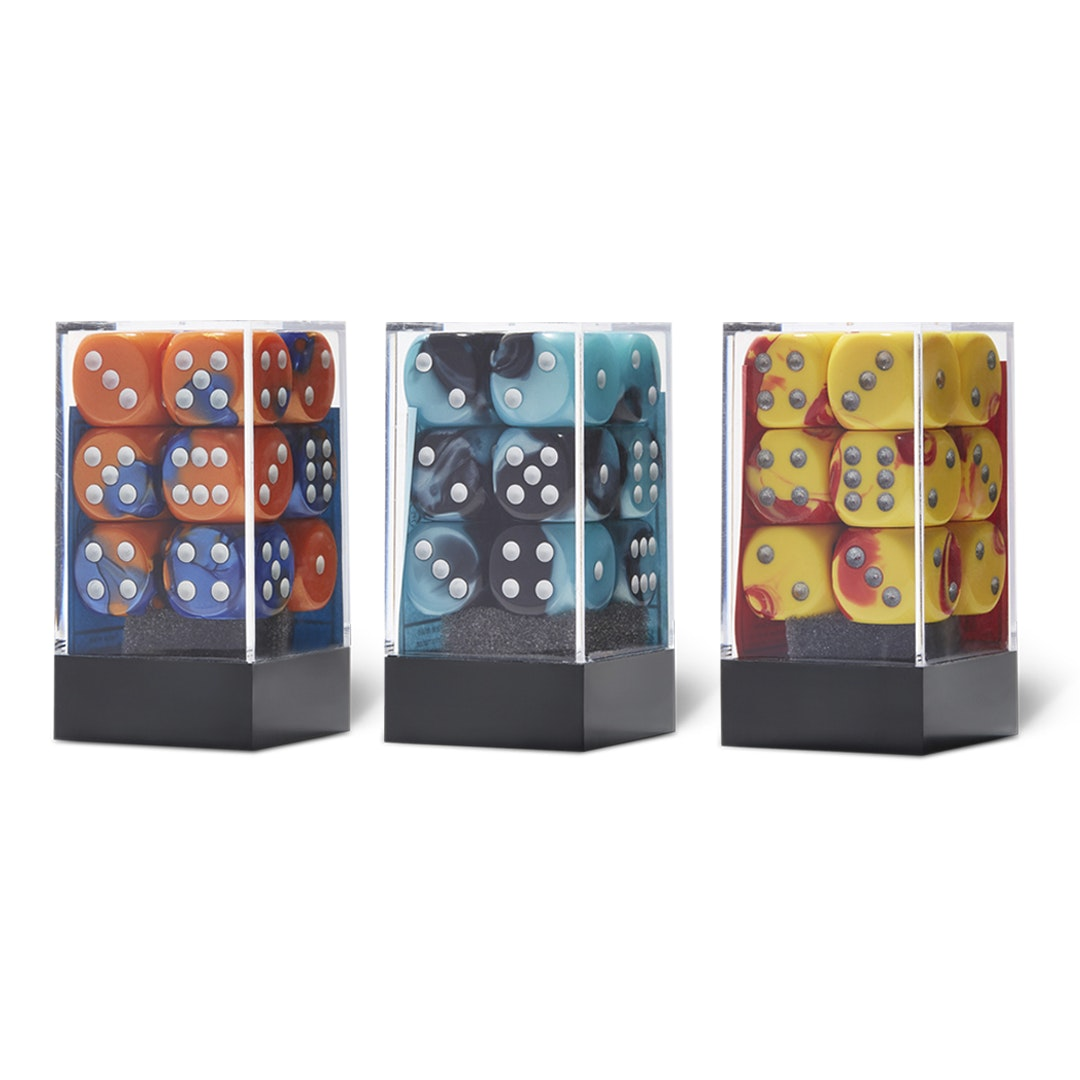 Chessex Gemini D6 12-Piece Dice Block (3-Pack)
