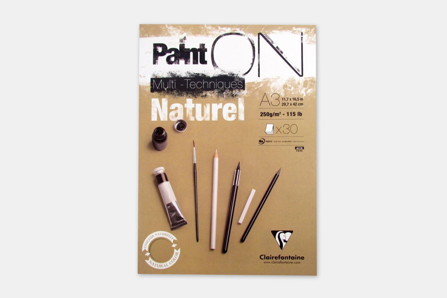 """Paint On! Natural (A3) 12 x 17""""  (+$8)"""