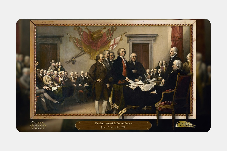 Freedom Playmat BY John Trumbull