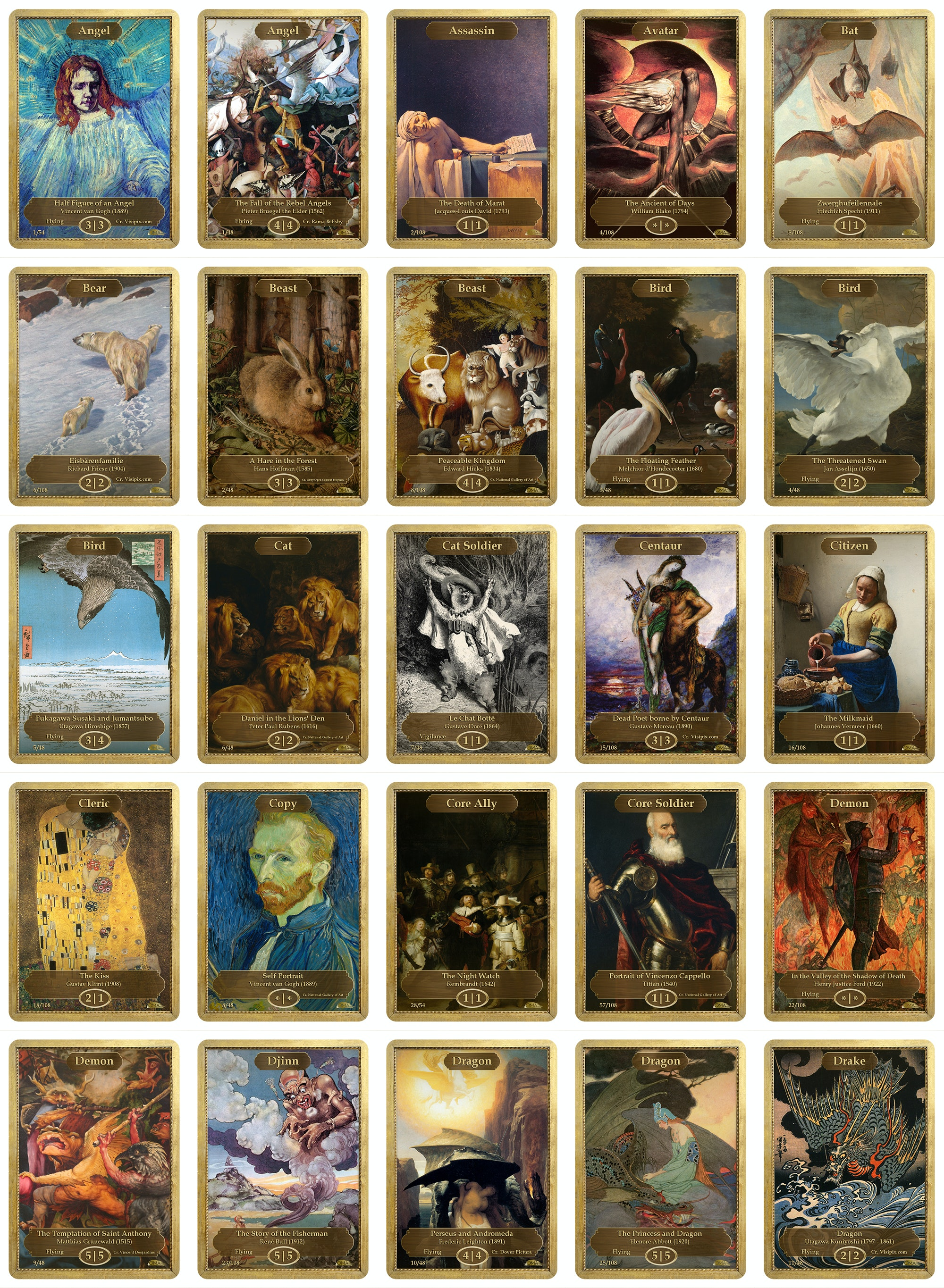 Classic Art Tokens by Original Magic Art
