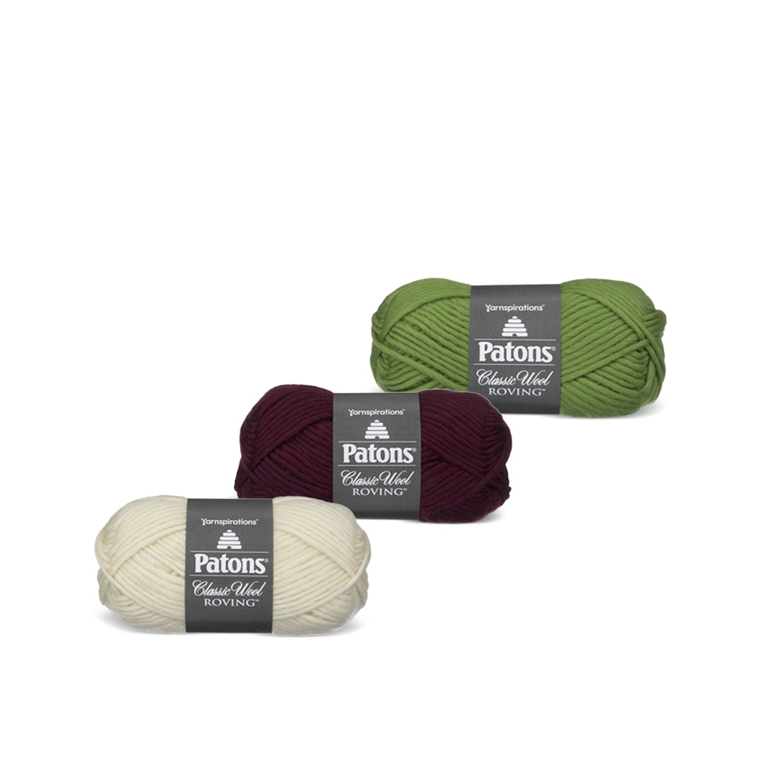 Classic Wool Roving Yarn by Patons (3-Pack)