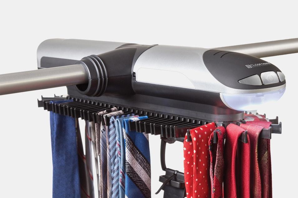 Closetmate motorized tie rack price reviews massdrop for Motorized tie racks for closets