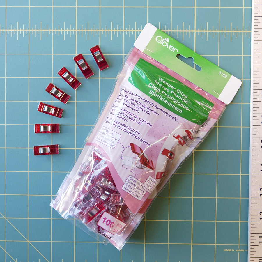 Crafts /& Quilting Clover Standard Size Red Wonder Clips 10 Pack For Sewing