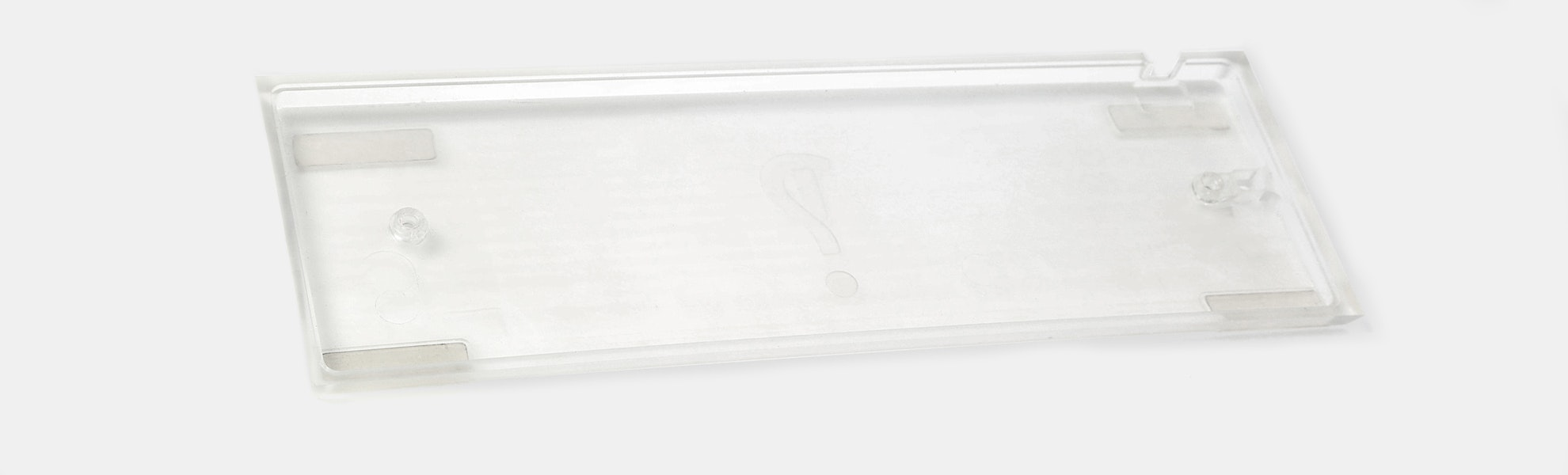 Clueboard Polycarb Translucent Keyboard Case