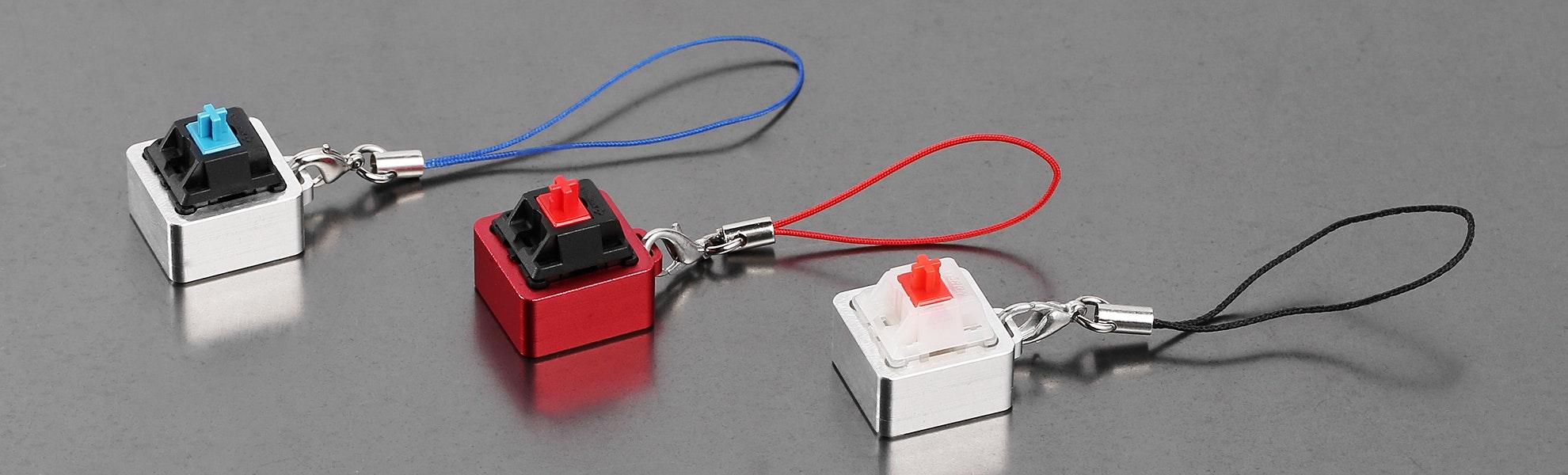 CNC Aluminum Cherry MX Keychain (2-Pack)