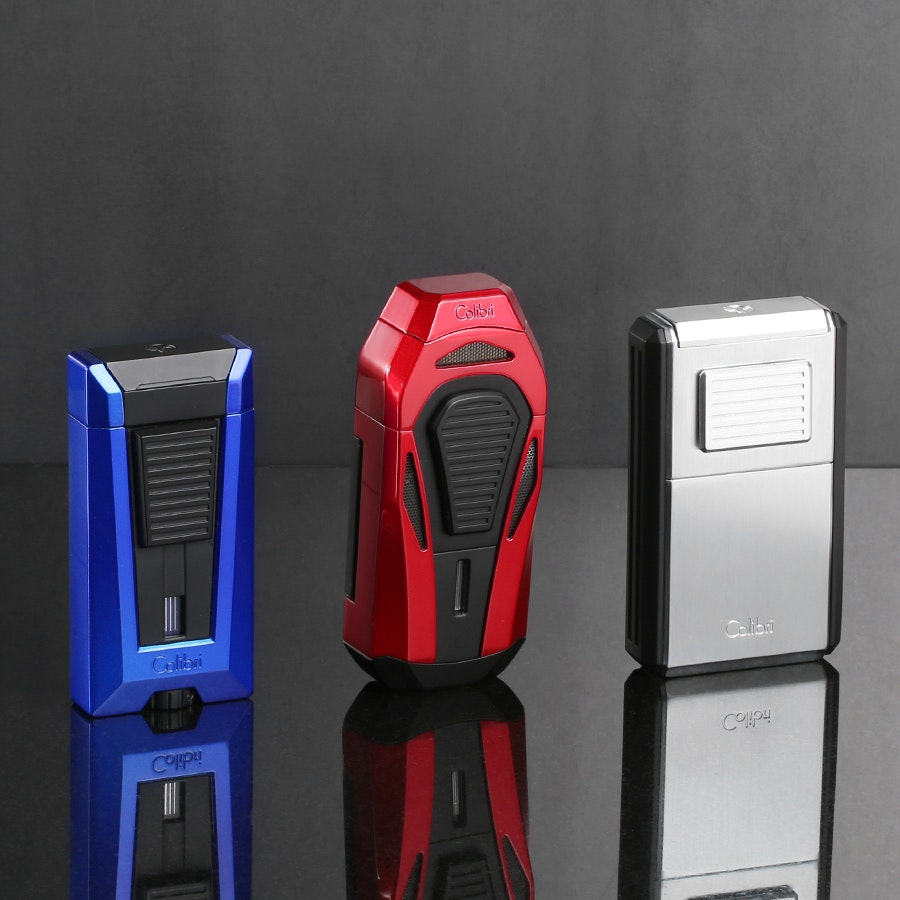 Colibri Triple Flame Lighters with Cutter
