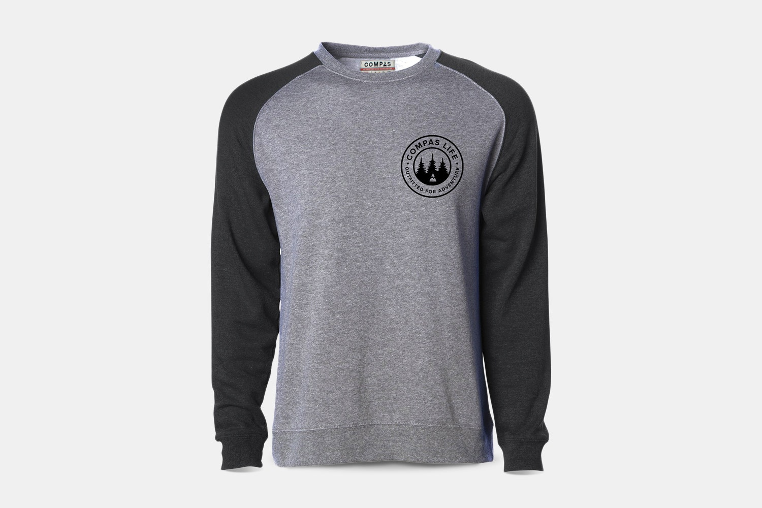 Outfitted Two-Tone Crewneck