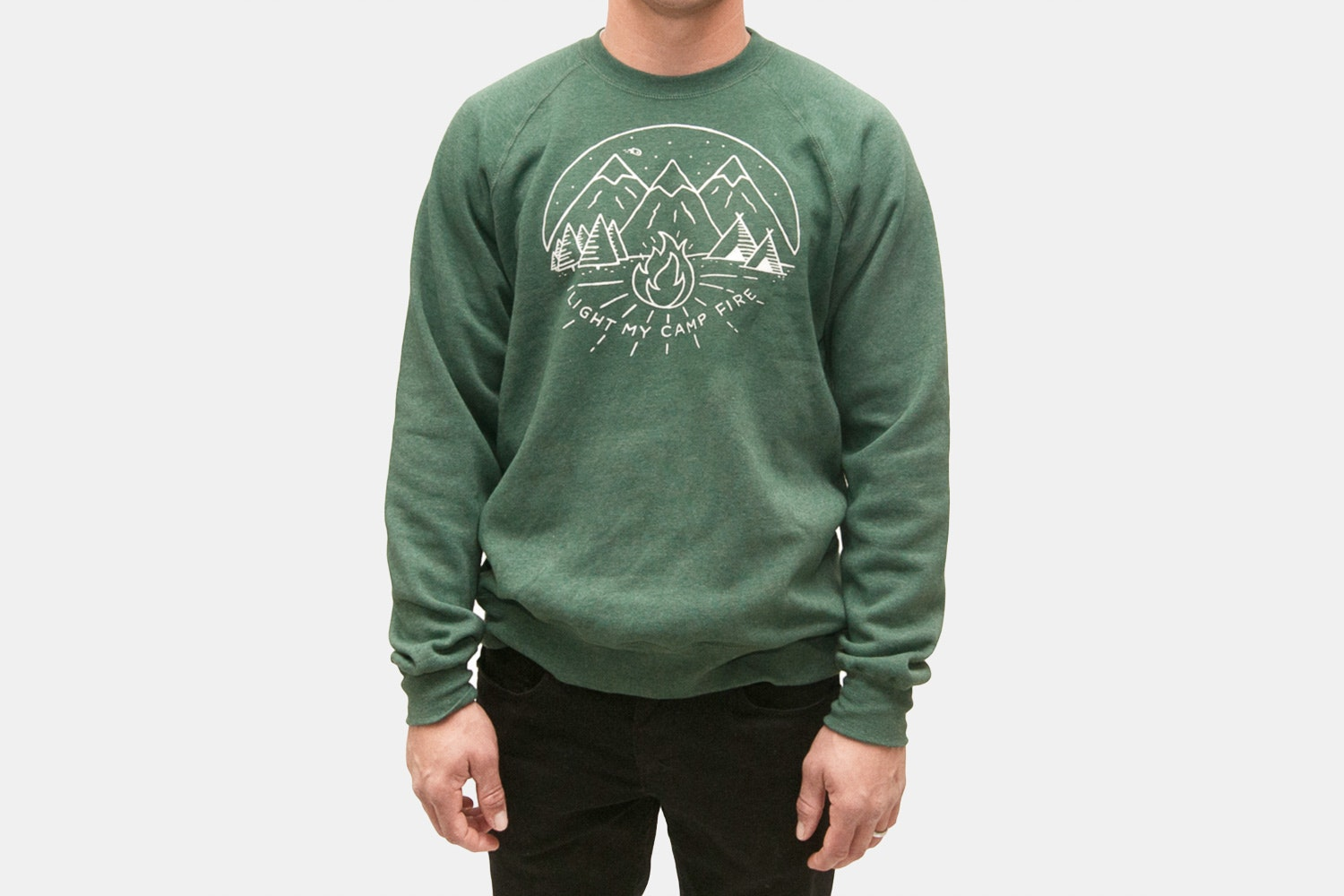 Light MY Campfire Crewneck Fleece (+$15)