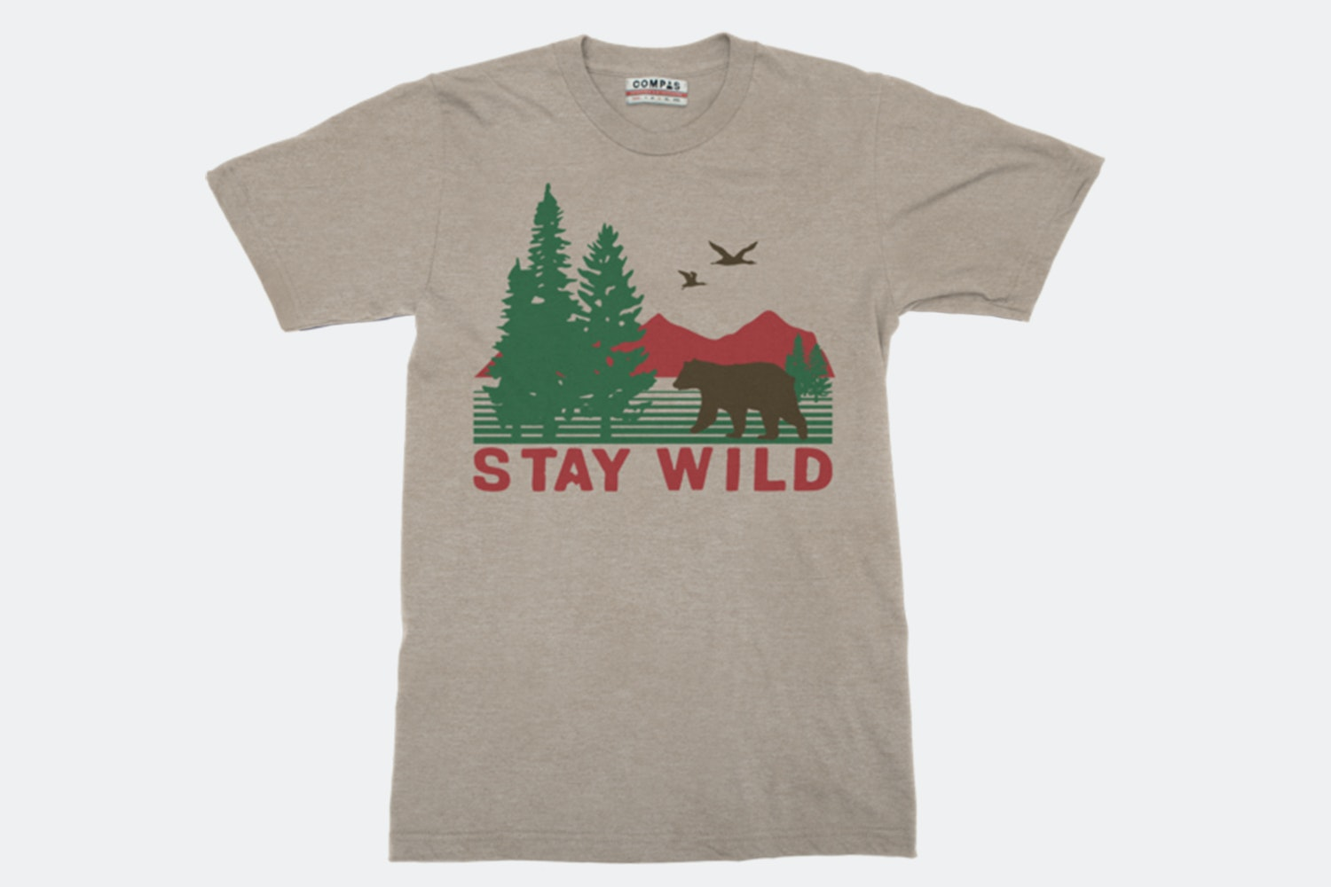 Stay Wild Tee - Clay Heather