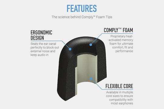 Comply T-100 Memory Foam Eartips