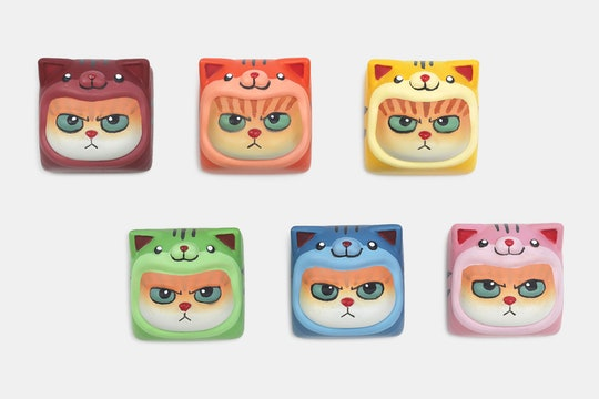 Cool Key Crew Peaky Cat Artisan Keycap
