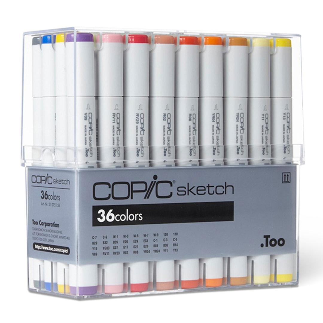 Copic Sketch Markers 36-Color Basic Set