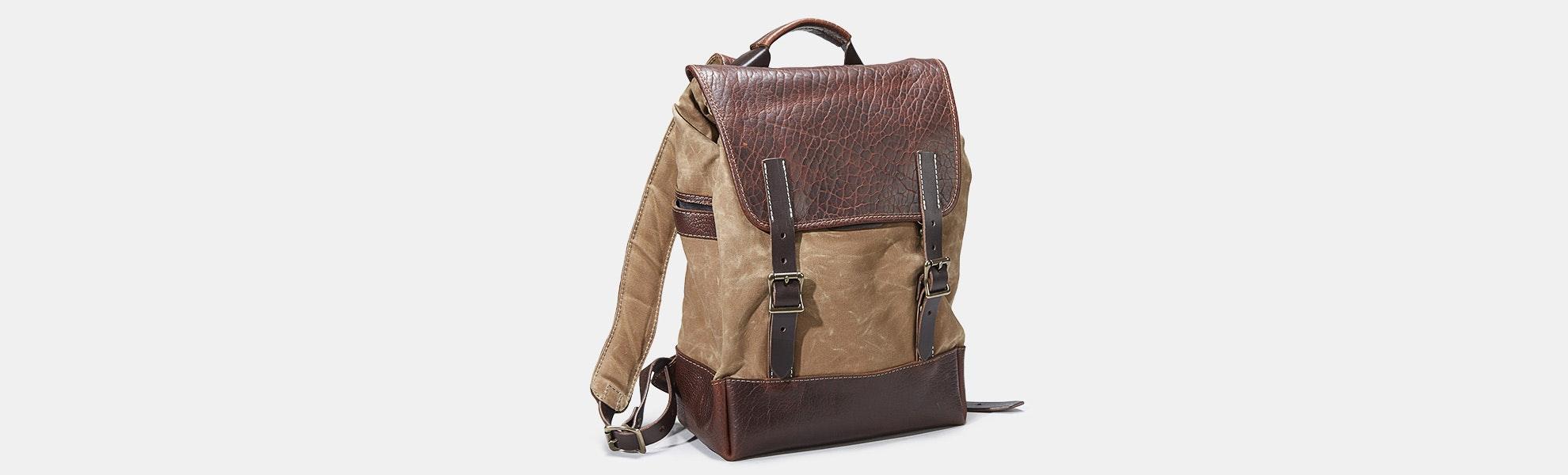 Coronado Leather Bison Redwood #530 Backpack