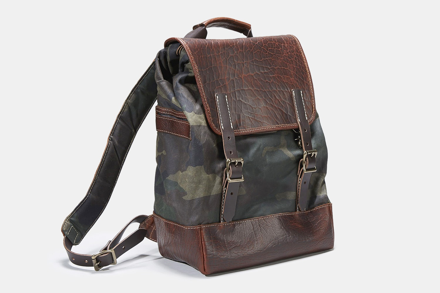 Coronado Leather Bison Redwood #530 Backpack