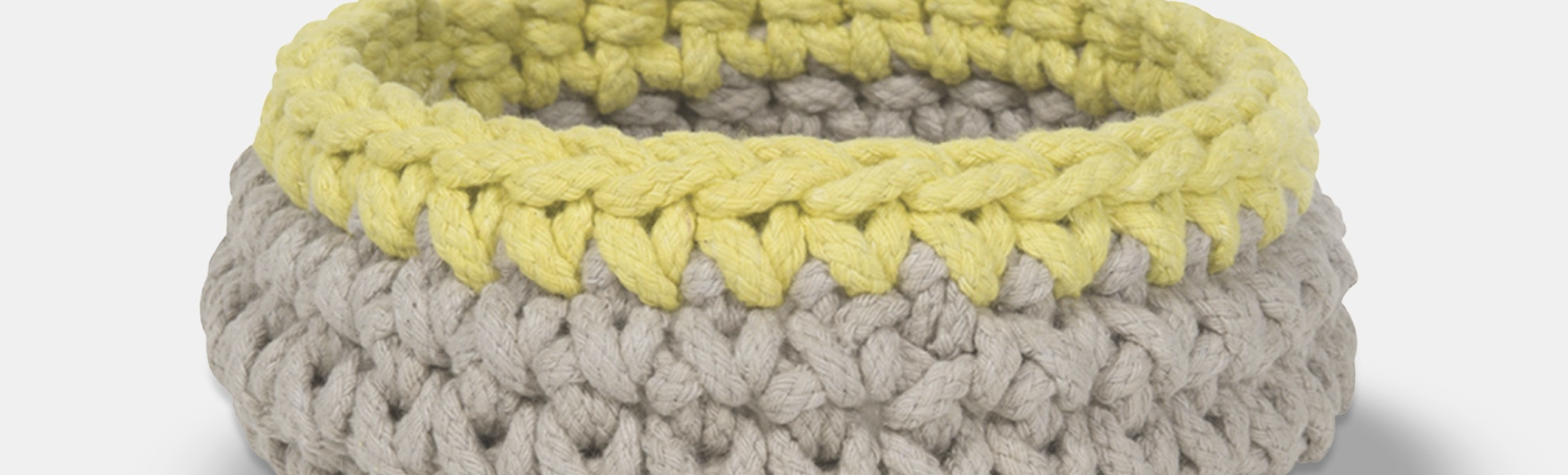 Crochet Basket 2-Pack