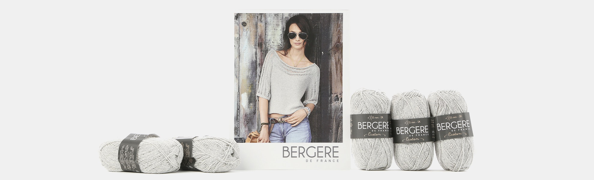 Cropped Sweater Kit by Bergere De France