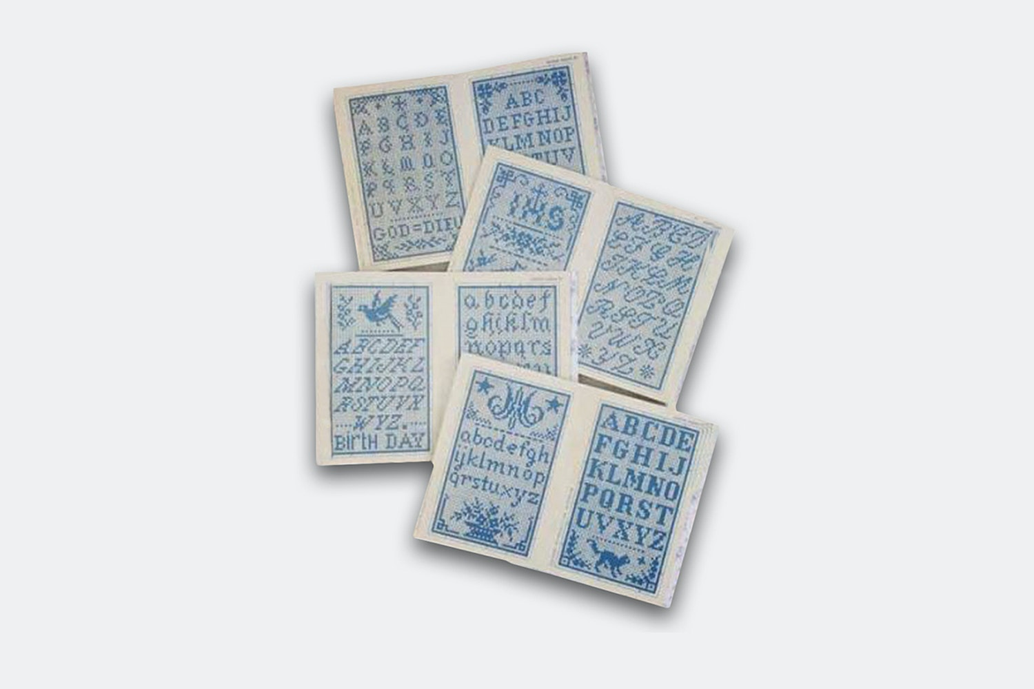 Cross Stitch Blue Album Series by Maison Sajou