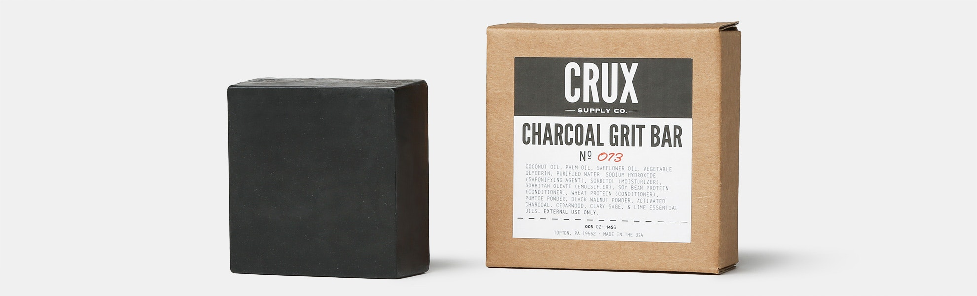 Crux Supply Co. Charcoal Grit Bar (2-Pack)