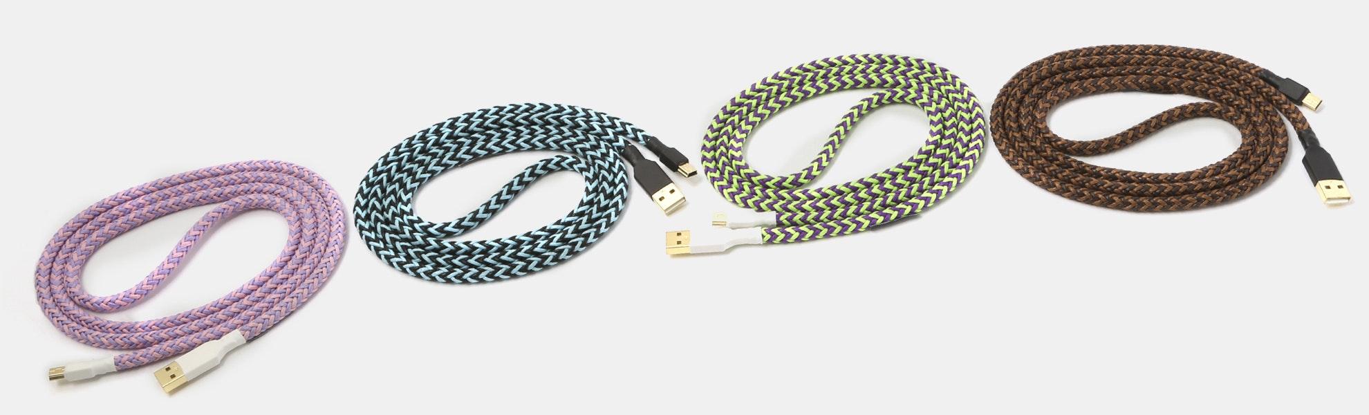 Keycap Themed Braided Nylon USB Cable