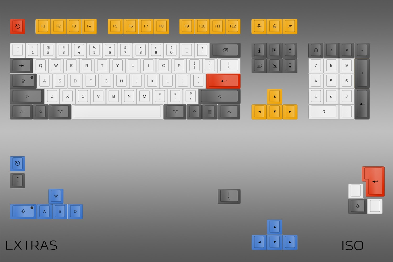 Custom Topre Keycap Set