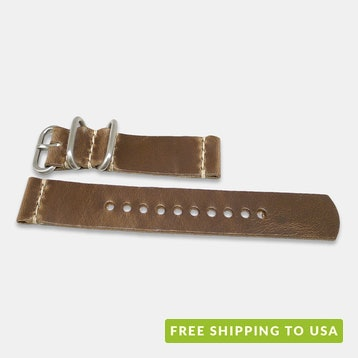 Da Luca Horween Chromexcel 2-Piece Watch Strap